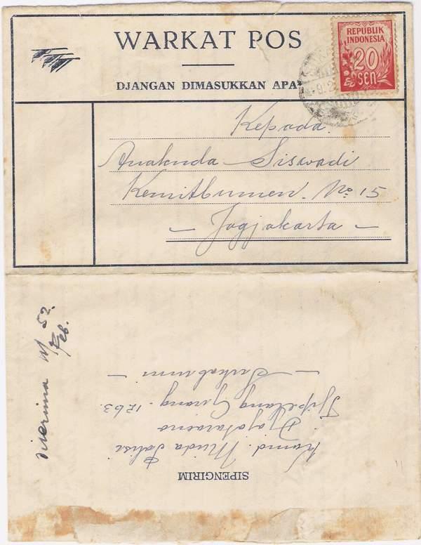 Filateli Wing Wahyu Winarno