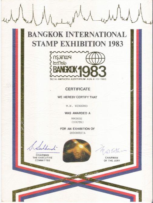 Piagam Thailand 1983 (Bronze Medal)