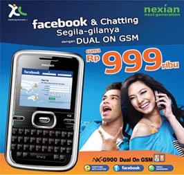 Iklan bersama ponsel Nexian dan XL (www.nexian.co.id)