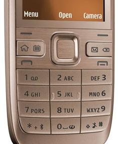 Susunan keypad ponsel.