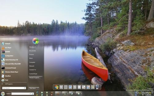 Contoh tampilan Windows 8